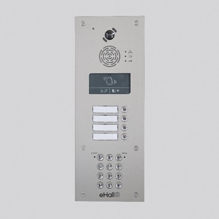 Portier vidéo GSM 8 boutons d'appel avec clavier