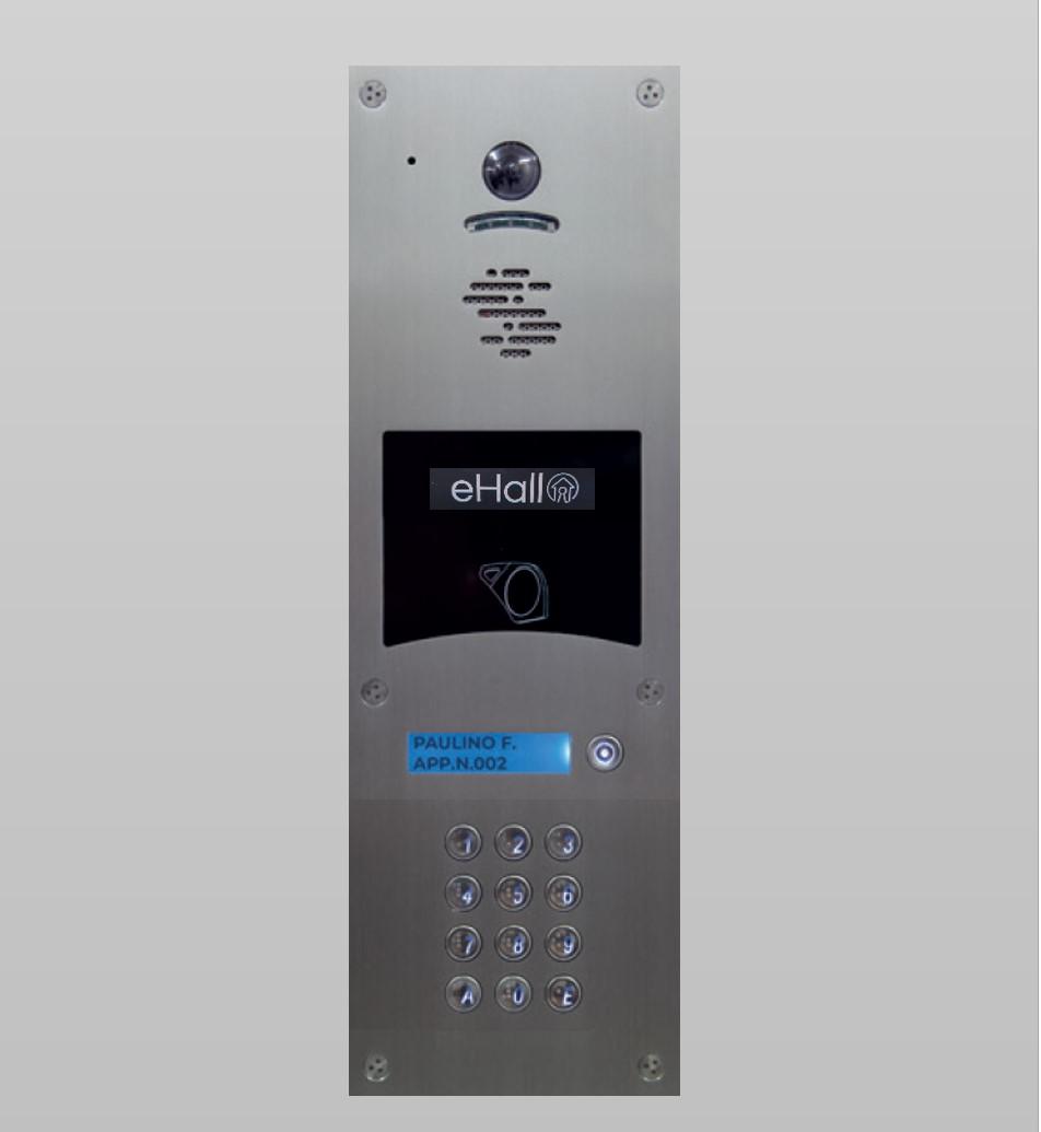 Portier vidéo GSM 1 bouton d'appel avec clavier