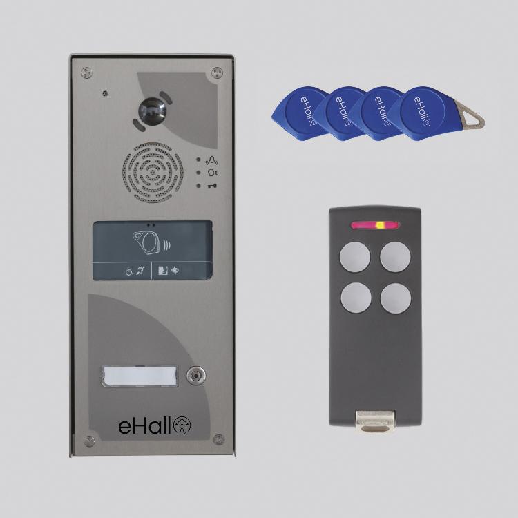 Kit video IP/GSM 1 BP saillie + clavier appel smartphone ou fixe prépayé 10 ans